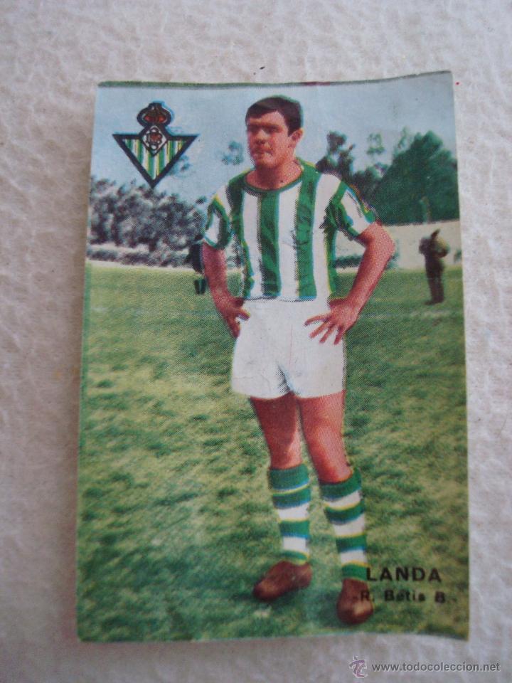 LIGA 67-68 FHER. LANDA. CROMO CASILLA DOBLE REAL BETIS (Coleccionismo Deportivo - Álbumes y Cromos de Deportes - Cromos de Fútbol)