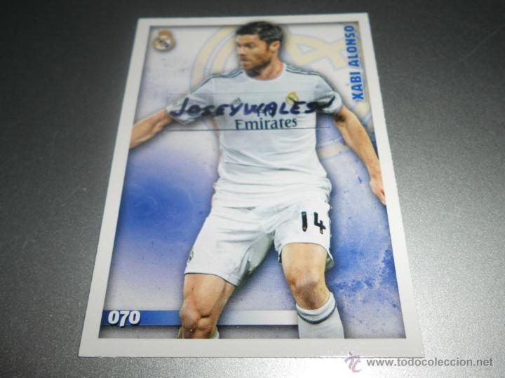 70 XABI ALONSO BAJA REAL MADRID CROMOS ALBUM MUNDICROMO LIGA FUTBOL QUIZ 2014 2015 14 15 (Coleccionismo Deportivo - Álbumes y Cromos de Deportes - Cromos de Fútbol)