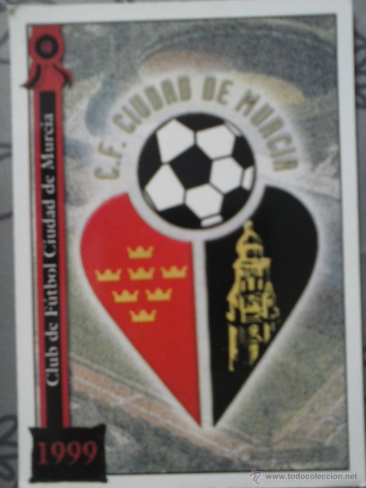 CROMO ESCUDO CF CIUDAD DE MURCIA (Coleccionismo Deportivo - Álbumes y Cromos de Deportes - Cromos de Fútbol)