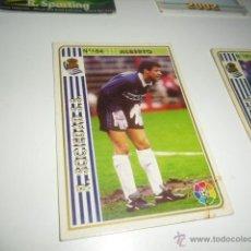 Cromos de Fútbol: FICHAS DE LA LIGA 94 95 REAL SOCIEDAD ALBERTO. Lote 235053200