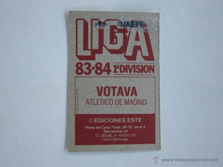 Cromos de Fútbol: ESTE 83-84 VOTAVA ATLETICO MADRID 1983-1984 - Foto 2 - 195379525