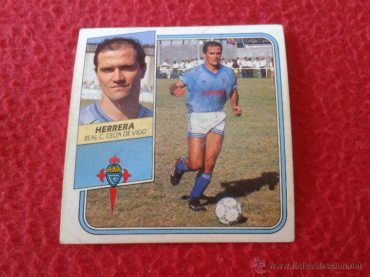 CROMO DE FUTBOL HERRERA CELTA DE VIGO LIGA 89 90 1989 1990 NUNCA PEGADO EDICIONES ESTE BAJA (Coleccionismo Deportivo - Álbumes y Cromos de Deportes - Cromos de Fútbol)