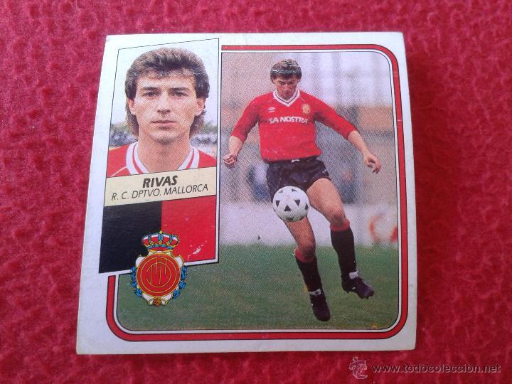 CROMO DE FUTBOL RIVAS MALLORCA LIGA 89 90 1989 1990 NUNCA PEGADO EDICIONES ESTE BAJA (Coleccionismo Deportivo - Álbumes y Cromos de Deportes - Cromos de Fútbol)