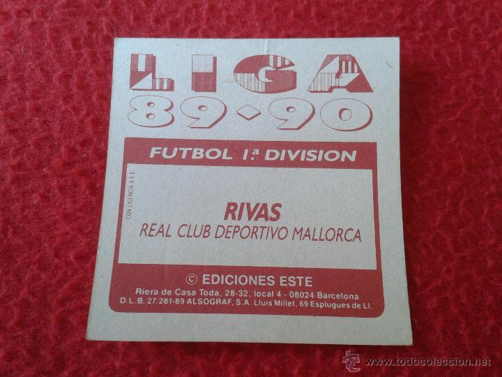 Cromos de Fútbol: CROMO DE FUTBOL RIVAS MALLORCA LIGA 89 90 1989 1990 NUNCA PEGADO EDICIONES ESTE BAJA - Foto 2 - 44910456