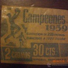 Cromos de Fútbol: CAMPEONES 1959 DE BRUGUERA - SOBRECITO SIN ABRIR. Lote 53877081
