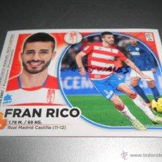 Cromos de Fútbol: 11 FRAN RICO GRANADA CROMOS ALBUM EDICIONES ESTE LIGA FUTBOL 2014 2015 14 14. Lote 45190314