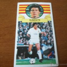 Cromos de Fútbol: CROMO LIGA 85-86 - SUBIRATS / VALENCIA - BAJA - EDICIONES ESTE. Lote 45331833