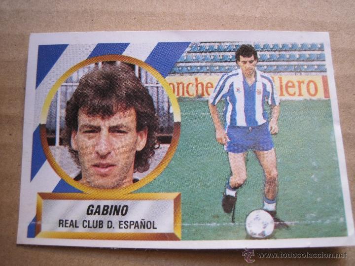 LIGA ESTE 88 89 1988 89 ÚLTIMO FICHAJE 23 GABINO U.F 23 (DESPEGADO) (Coleccionismo Deportivo - Álbumes y Cromos de Deportes - Cromos de Fútbol)