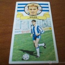 Cromos de Fútbol: CROMO LIGA 85-86 - SOLER / ESPAÑOL - BAJA - EDICIONES ESTE. Lote 45486604