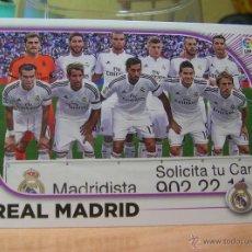 Cromos de Fútbol: EDICIONES ESTE 2014-2015 14 15 Nº 21 EQUIPO REAL MADRID SIN PEGAR. Lote 96086062