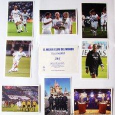 Cromos de Fútbol: CROMOS-FÚTBOL EL MEJOR CLUB DEL MUNDO EL REAL MADRID- PRECIO POR CROMO 0,75. Lote 45974277