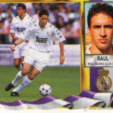 Cromos de Fútbol: RAUL (REAL MADRID) - CAMPEONATO DE LIGA 95/96 - EDICIONES ESTE - NUNCA PEGADO.. Lote 208283556