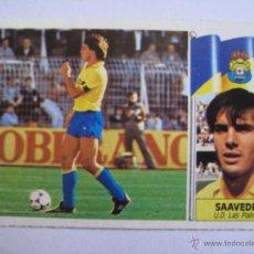 Cromos de Fútbol: ESTE 86 87 SAAVEDRA LAS PALMAS - NUEVO SIN PEGAR. Lote 46237379