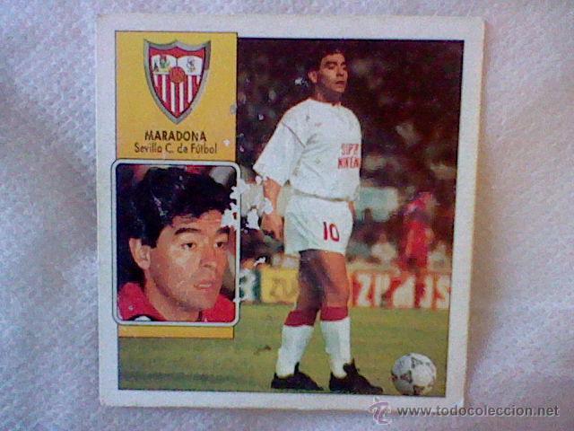 ED ESTE 93 92 1992 RECUPERADO MARADONA SEVILLA COLOCA DESPELLEJADO FRONTAL VER (Coleccionismo Deportivo - Álbumes y Cromos de Deportes - Cromos de Fútbol)
