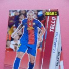Cromos de Fútbol: 51 BIS TELLO (FC BARCELONA) FICHA MEGACRACKS 2012/2013 PANINI LIGA 12-13 TRADING CARDS. Lote 183327075