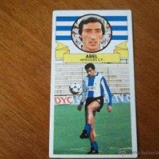 Cromos de Fútbol: CROMO LIGA 85-86 - ABEL/ HÉRCULES - BAJA - EDICIONES ESTE. Lote 46947633