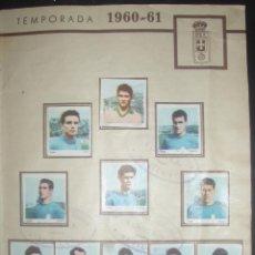 Cromos de Fútbol: HOJA CON CROMOS COMPLETA. OVIEDO C. F. TEMPORADA 1960-61. ALBUM CATANUNAMBÚ. EQUIPO COMPLETO.. Lote 46975584