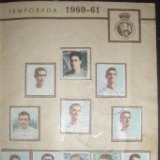 Cromos de Fútbol: HOJA CON CROMOS COMPLETA. RACING DE SANTANDER. TEMPORADA 1960-61. ALBUM CATANUNAMBÚ. EQUIPO COMPLETO. Lote 46975857