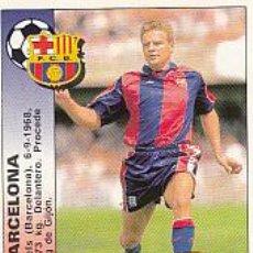 Cromos de Fútbol - XAVIER ESCAICH BARCELONA 365 FICHAJE 94 95 PANINI LIGA 1994 1995 CROMO SIN PEGAR, PERFECTO ESTADO - 47022054