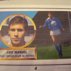 Cromos de Fútbol: D 88-89 ESTE. LUIS MANUEL OVIEDO. MUY DIFICIL VERSION BALON EN EL AIRE. LEER.. Lote 47042762