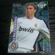 Cromos de Fútbol: -MUNDICROMO 2012 : 551 SERGIO RAMOS ( REAL MADRID ) -- TOP AZUL CUADROS --. Lote 47098148