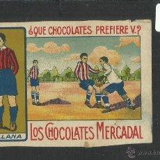Cromos de Fútbol: VALLANA - ARENAS FC - EQUIPO NACIONAL - CHOCOLATES MERCADAL MALLORCA - MIDE 7 X 10 CM (CD-1404). Lote 47593632