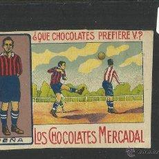 Cromos de Fútbol: PEÑA - ARENAS FC - EQUIPO NACIONAL - CHOCOLATES MERCADAL MALLORCA - MIDE 7 X 10 CM (CD-1408). Lote 47593742
