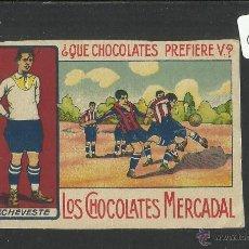 Cromos de Fútbol: ECHEVESTE- REAL UNION IRUN -EQUIPO NACIONAL- CHOCOLATES MERCADAL MALLORCA - MIDE 7 X 10 CM (CD-1410). Lote 47593839