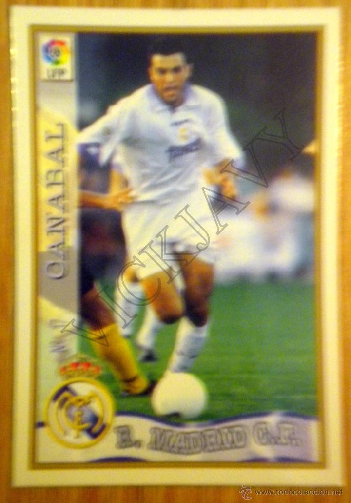 MUNDICROMO 1997-98 REAL MADRID CANABAL Nº 17 97/98 CARD FOOTBALL (Coleccionismo Deportivo - Álbumes y Cromos de Deportes - Cromos de Fútbol)