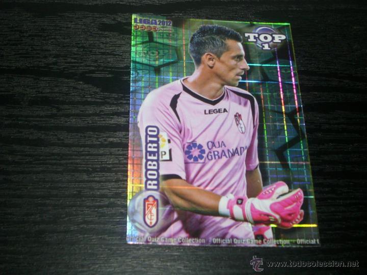 -MUNDICROMO 2012 : 549 ROBERTO ( GRANADA ) -- TOP AZUL CUADROS -- (Coleccionismo Deportivo - Álbumes y Cromos de Deportes - Cromos de Fútbol)