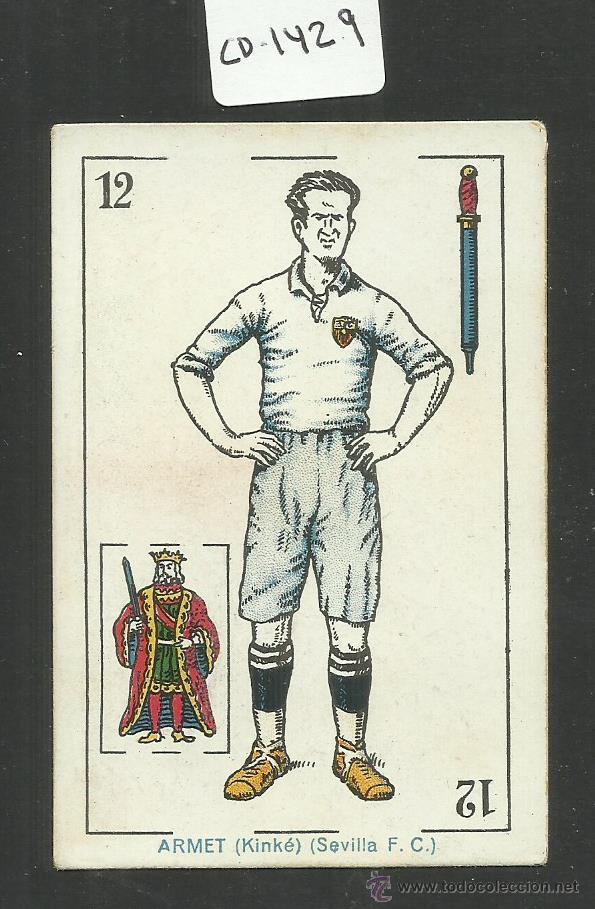 ARMET (KINKE) - SEVILLA FC - CHOCOLATE AMATLLER - (CD-1429) (Coleccionismo Deportivo - Álbumes y Cromos de Deportes - Cromos de Fútbol)