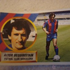 Cromos de Fútbol: 88-89 ESTE. BEGUIRISTAIN BARCELONA DIFICIL VERSION SIN PINTAR. DESPEGADO. Lote 48038959