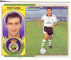 ESTE 1996 1997 - R RACING SANTANDER - FICHAJE Nº 20 PACO SANZ - SIN PEGAR (Coleccionismo Deportivo - Álbumes y Cromos de Deportes - Cromos de Fútbol)