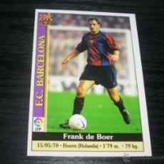 Cromos de Fútbol: -MUNDICROMO 2000 : 8 F. DE BOER ( BARCELONA ). Lote 68556830