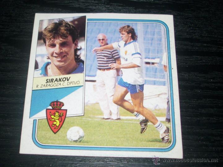 -ESTE 89-90 : SIRAKOV ( REAL ZARAGOZA ) (Coleccionismo Deportivo - Álbumes y Cromos de Deportes - Cromos de Fútbol)