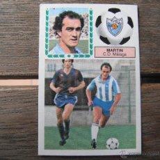 Cromos de Fútbol: CROMO ESTE 83.84. MARTIN (C.D.MALAGA). NUNCA PEGADO.. Lote 48461537
