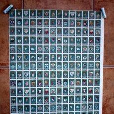 Cromos de Fútbol: ESCUDOS FÚTBOL CAJAS DE CERILLAS - FOSFORERA ESPAÑOLA 1957 - LÁMINA CON 4 COLECCIONES COMPLETAS. Lote 48530881