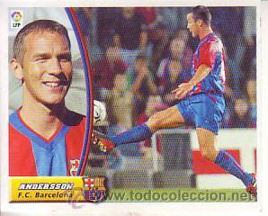 ESTE 2003 2004 - FC BARCELONA - ANDERSSON - NUEVO SIN PEGAR (Coleccionismo Deportivo - Álbumes y Cromos de Deportes - Cromos de Fútbol)