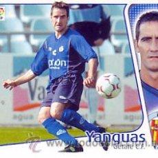 Cromos de Fútbol: ESTE 2004 2005 - GETAFE CF - YANGUAS - NUEVO SIN PEGAR. Lote 48749289