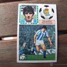 Cromos de Fútbol: CROMO ESTE 83.84. CELAYETA (REAL SOCIEDAD). NUNCA PEGADO.. Lote 48909041