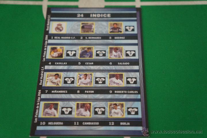 CROMO CARD DE FÚTBOL:ÍNDICE DEL REAL MADRID C.F.,Nº24,LIGA MUNDICROMO 2003-2004 (Coleccionismo Deportivo - Álbumes y Cromos de Deportes - Cromos de Fútbol)