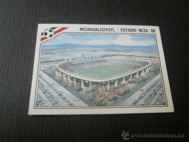 MEXICO 86 ( WORLD CUP / COPA DEL MUNDO ) - PANINI - 26 NEZAHUALCOYOTL - ESTADIO NEZA 86 (Coleccionismo Deportivo - Álbumes y Cromos de Deportes - Cromos de Fútbol)