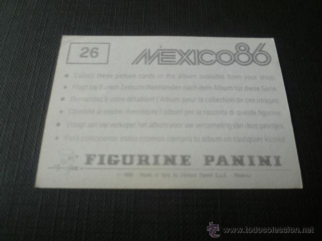 Cromos de Fútbol: MEXICO 86 ( WORLD CUP / COPA DEL MUNDO ) - PANINI - 26 NEZAHUALCOYOTL - ESTADIO NEZA 86 - Foto 2 - 49272430