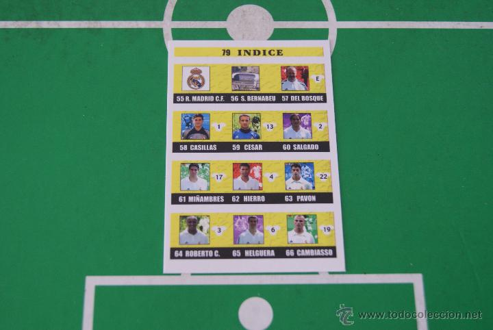 CROMO CARD DE FÚTBOL:ÍNDICE DEL REAL MADRID C.F.,Nº79,LIGA MUNDICROMO 2002-2003/02-03 (Coleccionismo Deportivo - Álbumes y Cromos de Deportes - Cromos de Fútbol)