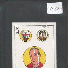 Cromos de Fútbol: PEÑA - AÑOS 20 - CROMO CARTA BARAJA - (CD-1534). Lote 49464622