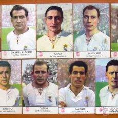Cromos de Fútbol: REAL MADRID - CHAMPAÑA CASTELLBLANCH 1952-1953, 52-53 - 11 CROMOS, TODOS LOS PUBLICADOS. Lote 49472440