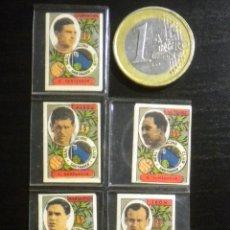 Cromos de Fútbol: CROMOS ANTIGUOS RACING DE SANTANDER BARRENECHEA ALSUA VAZQUEZ MARQUITOS RUIZ. Lote 49581988