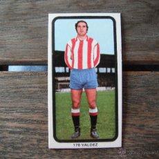 Cromos de Fútbol: CROMO RUIZ ROMERO 74-75. VALDEZ Nº 178 (SPORTING GIJON). NUNCA PEGADO.. Lote 49790188