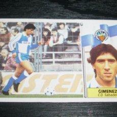 Cromos de Fútbol: -ESTE 86-87 : GIMENEZ ( SABADELL ) -- COLOCA --. Lote 49905869