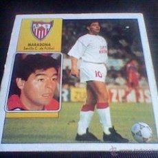 Cromos de Fútbol: ED ESTE NUNCA PEGADO LIGA 92 93 COLOCA MARADONA SEVILLA .. Lote 49914704